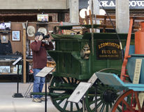 Ein Fotograf Works bei Texas Cowboy Hall des Ruhmes Stockfoto