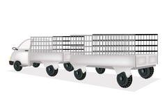 Ein Fracht-LKW mit allgemeinem Waren-Anhänger Lizenzfreie Stockbilder