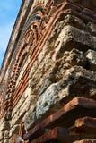 Ein Fragment der Wand. Nesebar. Stockbild