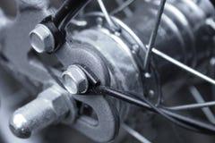 Ein Fragment des Fahrrades Lizenzfreies Stockfoto