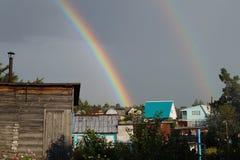 Ein Fragment des Regenbogens stockbilder