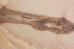Ein Fragment des Sperrholzabschlusses oben mit Knoten stockbild