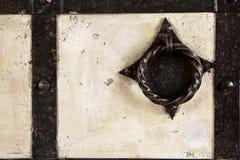 Ein Fragment einer alten alten Tür von einem historischen Gebäude Lizenzfreie Stockfotografie