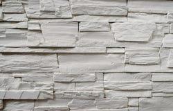 Ein Fragment einer dekorativen Wand hergestellt vom Kunststein Stockbilder