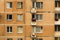 Ein Fragment von Häusern einer typischen Platte die Siebziger des 20. Jahrhunderts, die UDSSR Lizenzfreies Stockfoto