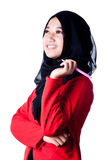 Ein Frauenschleier von Indonesien-Land Stockbild