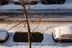 Ein freier Parkplatz stockbild