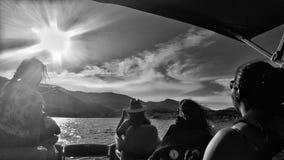 Ein freier Tag auf dem Wasser Stockbild