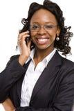 Ein freundlicher Telefonbediener Stockbilder