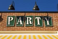 Ein freundliches Partyzeichen Stockfotografie