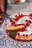 Ein Frieden des Kuchens Stockfotos