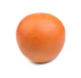 Ein frisches Orange, erneuernd trägt für geschmackvolle Sommersalate voll von den Vitaminen Früchte, die auf einem weißen Hinterg lizenzfreies stockfoto
