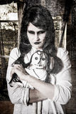 Ein furchtsames Geistmädchen Stockfoto