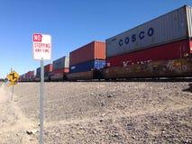 Ein Güterzug Stockfotografie
