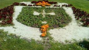 Ein Garten in Form eines Kreuzes Stockbild