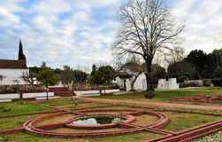 Ein Garten im Winter lizenzfreies stockfoto