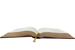 Ein geöffnetes Buch. Stockfoto