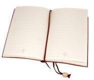 Ein geöffnetes Buch Stockbild