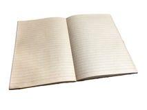 Ein geöffnetes Notizbuch lizenzfreie stockfotografie