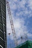 Ein Gebäude im Bau Stockfotos