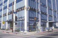 Ein Gebäude in Los Angeles zerstört stockfotografie