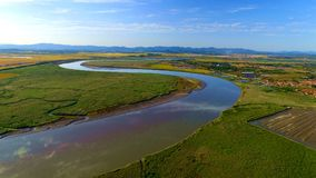 Ein gebogener Fluss Lizenzfreies Stockfoto