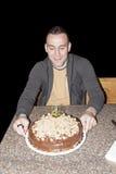 Ein Geburtstag des jungen Mannes Lizenzfreies Stockfoto