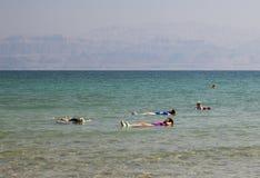 Ein Gedi海滩 停止的以色列海运 库存图片