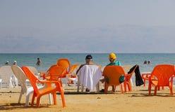 Ein Gedi海滩 停止的以色列海运 免版税库存图片