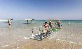 Ein Gedi Beach. Dead Sea, Israel Royalty Free Stock Image
