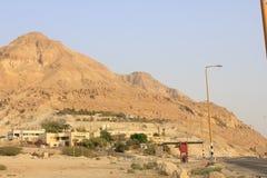 Ein Gedi en el desierto de Judea, mar muerto, Tierra Santa imagen de archivo