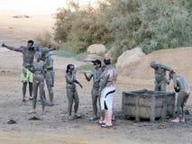 Ein Gedi Mud Treatment 2010 Royalty Free Stock Photos