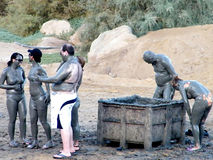 Ein Gedi Mud Treatment October 2010 Stock Image