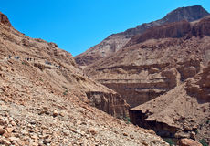 Tourists in the Judean Desert. Ein Gedi Nature Reserve, Gorge Dead Stream. Israel Stock Photos