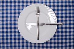 Ein gefallen mehr - Tischmanieren Stockfotos