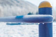 Ein gefrorenes Blau Lizenzfreie Stockbilder