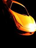 Ein gelbes Auto Lizenzfreies Stockbild