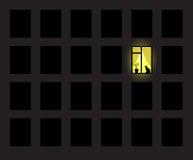 Ein gelbes Fenster Lizenzfreies Stockbild