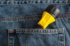 Ein gelbes und schwarzes Blitzlicht Lizenzfreie Stockfotos