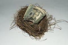 Ein Geld Staplungsnotgroschen lizenzfreie stockfotografie