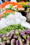 Ein Gemüsestandplatz Stockfotografie