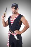 Ein gemusterter Pirat lokalisiert Lizenzfreie Stockfotos