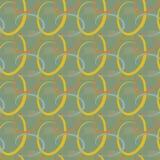 Ein geometrischer Sand-grüner nahtloser Hintergrund lizenzfreie abbildung