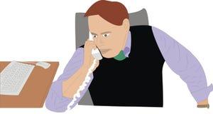 Ein Geschäftsmann empfängt einen Aufruf Lizenzfreies Stockbild