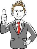 Ein Geschäftsmann gibt Daumen auf vektor abbildung