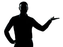 Ein Geschäftsmann-Handgeöffnetes Schattenbild Lizenzfreie Stockfotografie