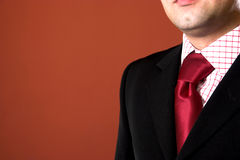 Ein Geschäftsmann, kleidend Lizenzfreies Stockbild