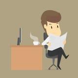 Ein Geschäftsmann Reading ein Newsrpape Lizenzfreies Stockbild