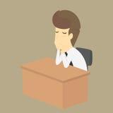 Ein Geschäftsmann traurig in der Arbeit Stockbilder