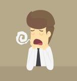 Ein Geschäftsmann traurig in der Arbeit Stockfoto